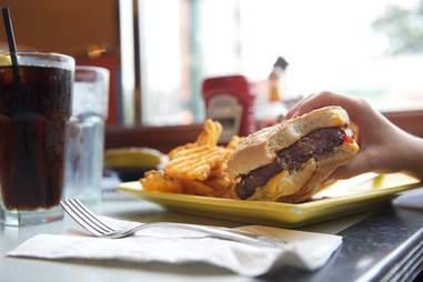 Burger at Kellogg's Diner