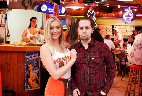 Hooters waitress