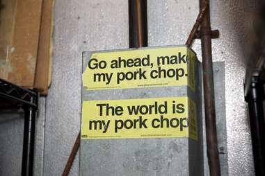 Pork chop stickers