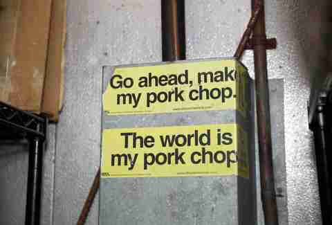 Pork chop stickers