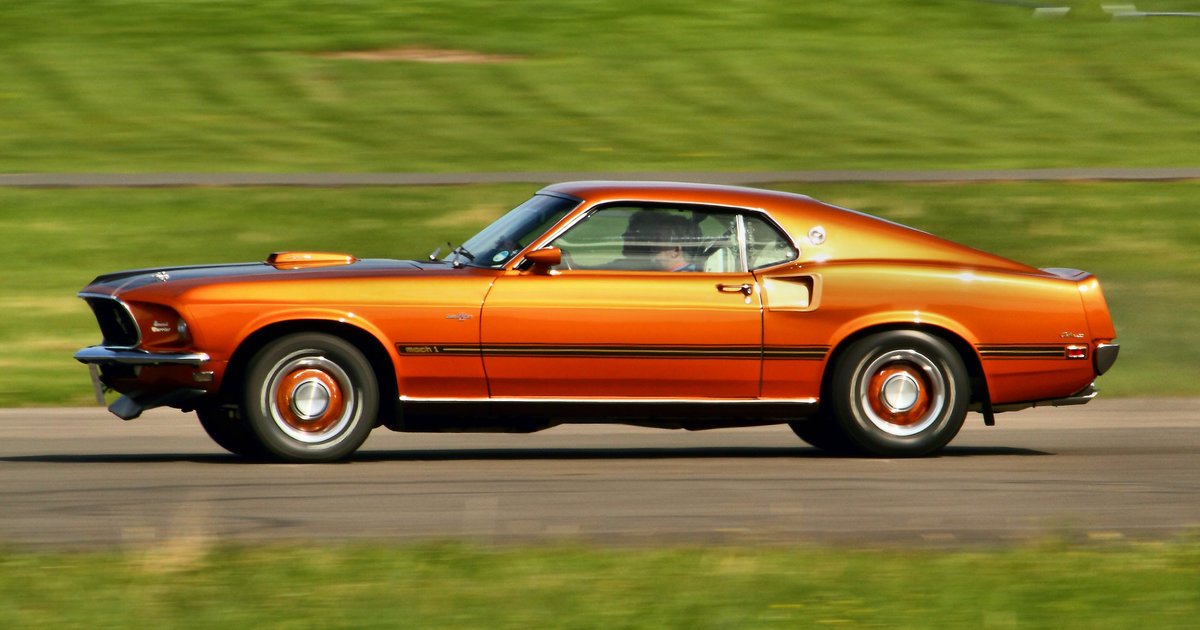 10 classic american muscle cars that are slower than a for Classic american muscle cars