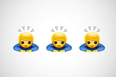 bowing person emoji