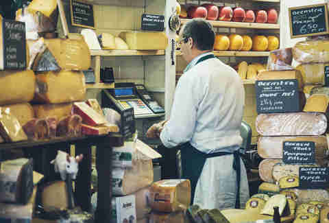 Cheese vendor