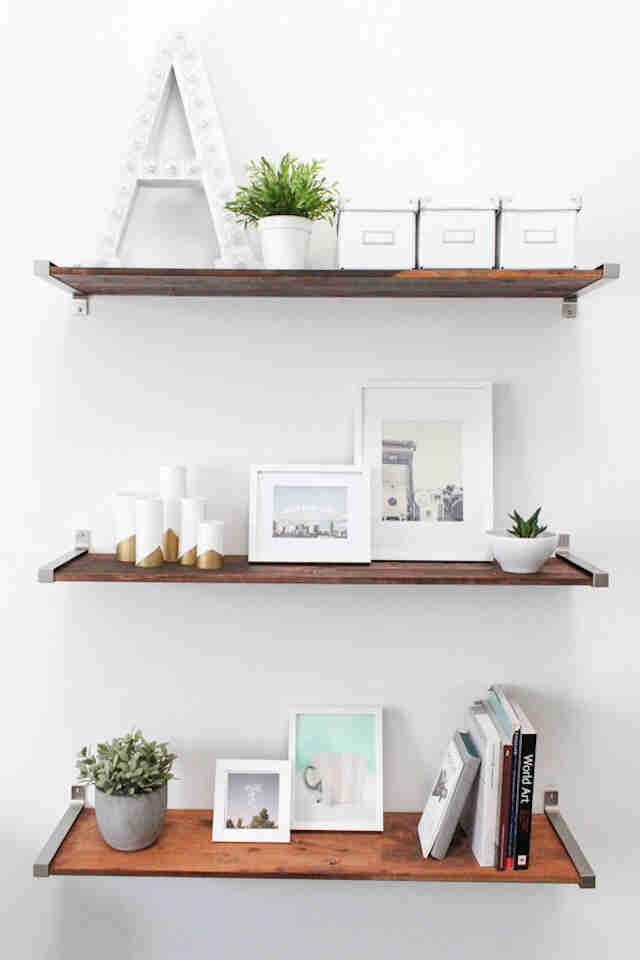 40 Easy Shelves You Can Install In 40 Minutes Easy Wood Shelf Best Easy To Install Floating Shelves