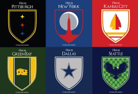 If Nfl Teams Were Game Of Thrones Houses Nfl Sigils Nfl Teams As