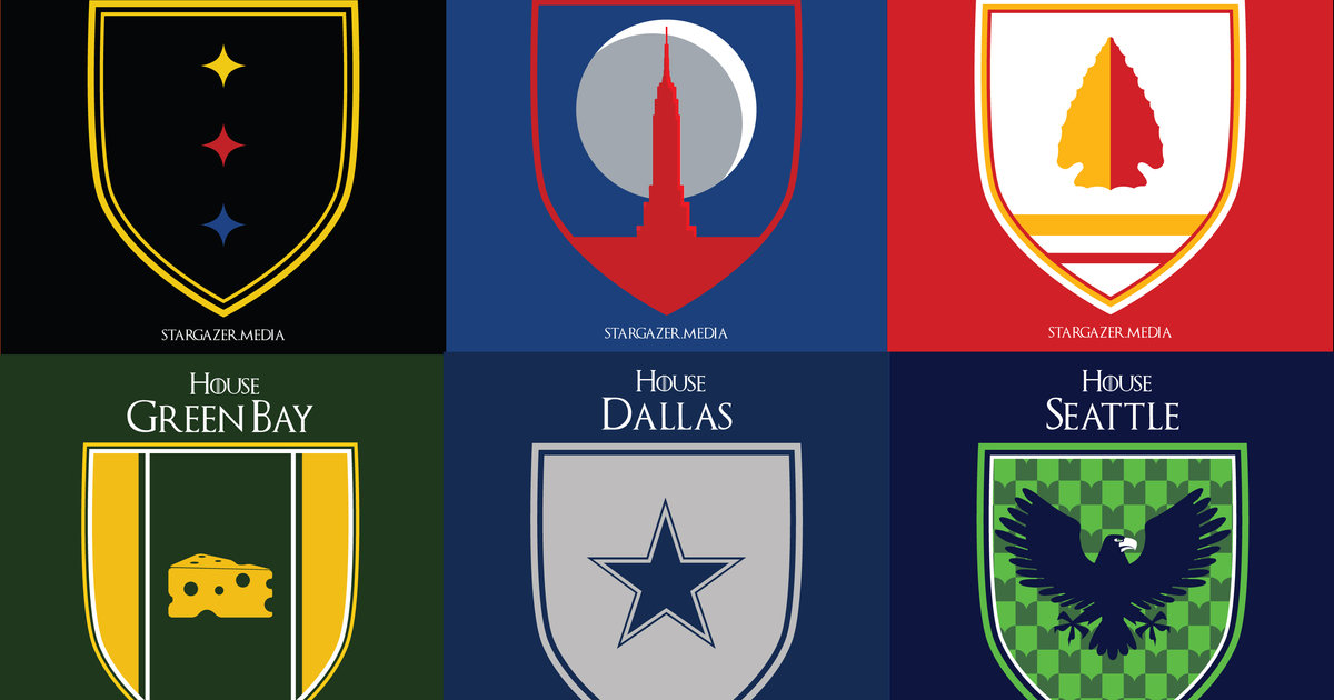 If Nfl Teams Were Game Of Thrones Houses Nfl Sigils Nfl Teams As