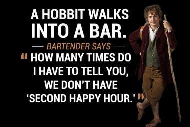 Hobbit walks into a bar