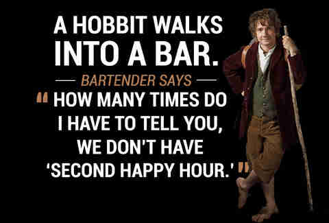 Hobbit walks into a bar
