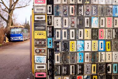 Wall of mixtapes