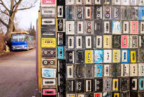 Wall of mixtapes