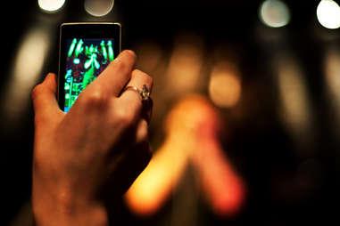 Recording concert on phone