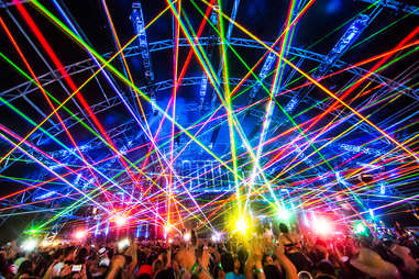 Many-colored lights