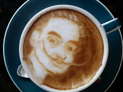 Southside Espresso latte art in Houston