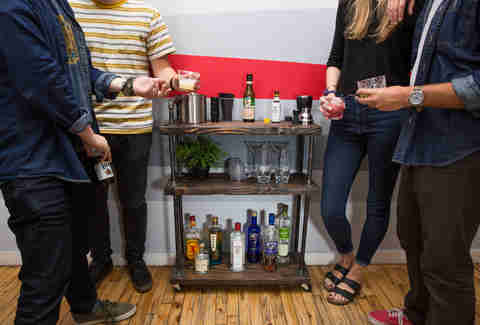 How to Make a Custom Bar Cart in an Hour, for Less Than a Bar Tab