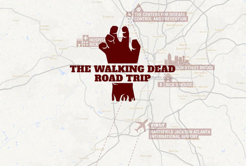 Map Of I 85 Georgia.Walking Dead Filming Locations Atlanta Map Tour Thrillist