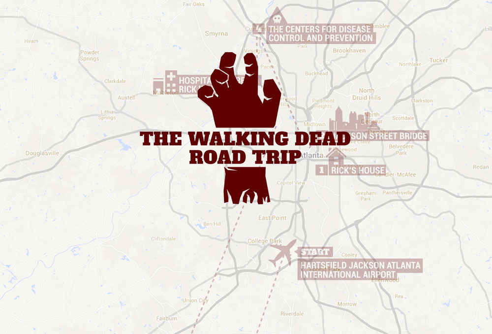 Show A Map Of Georgia.Walking Dead Filming Locations Atlanta Map Tour Thrillist