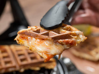 Pizza Waffle -- Thrillist Recipes