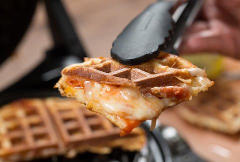 Pizza Waffle -- Thrillist Recipes