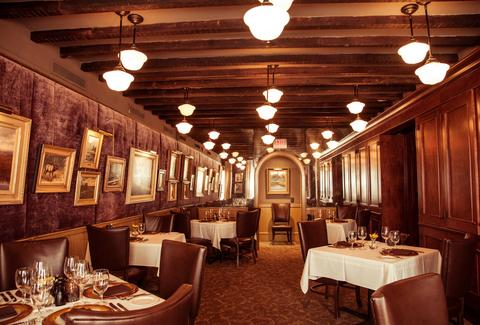 Interior of Halls Chophouse