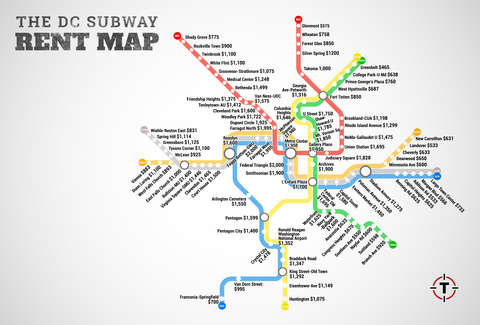 Redline Metro Map Los Angeles.Washington Dc Metro Rent Map Thrillist