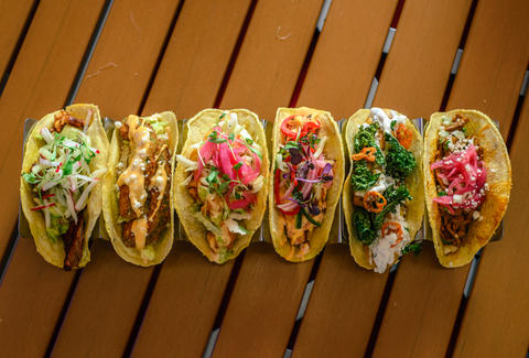 hussong's taco selection
