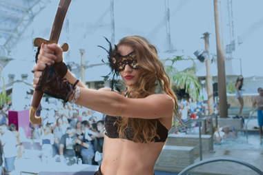 Sword at the pool