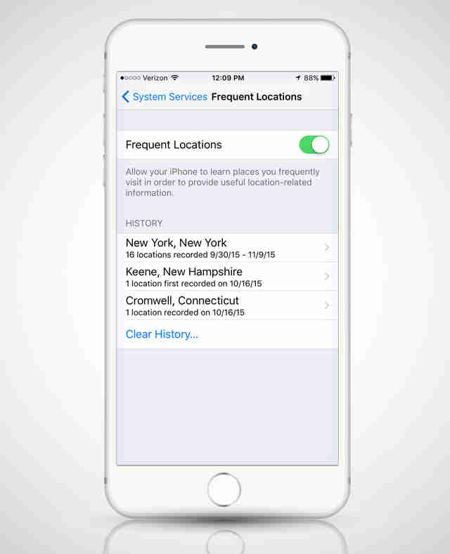 how to turn off location services on iphone 4