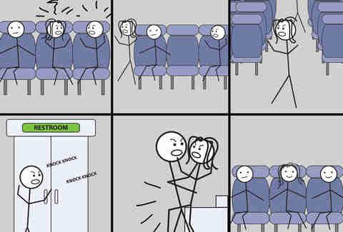 Sex on an airplane cartoon video