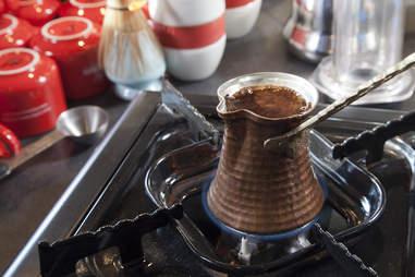 Turkish coffee at Chazzano Coffee Roasters
