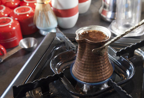 Turkish coffee at Chazzano Coffee Roasters