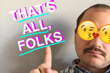 Man on Snapchat with emoji and text
