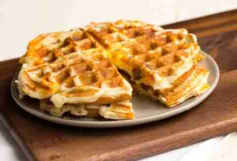 Breakfast Sandwich Waffles -- Thrillist Recipes