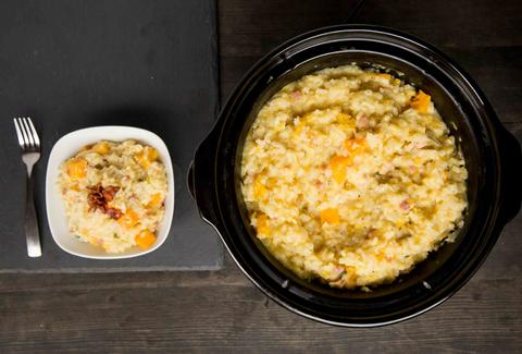 Bacon and Butternut Squash Risotto -- Thrillist Recipes