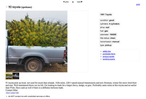 Craigslist weed london