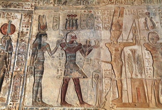 Ancient Egyptian fertility ritual artwork