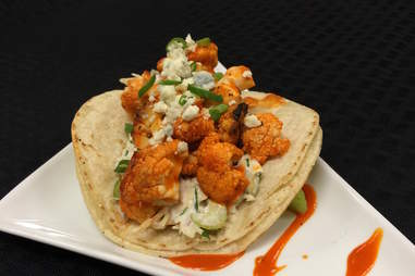 buffalo cauliflower tacos