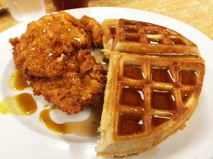 early bird diner in charleston sc chicken and waffles thrillist