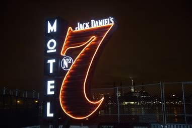 Jack Daniel's motel sign