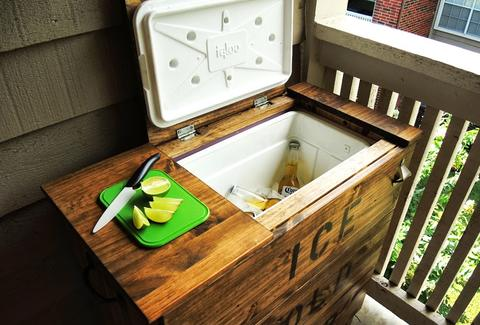 beer cooler IKEA hack