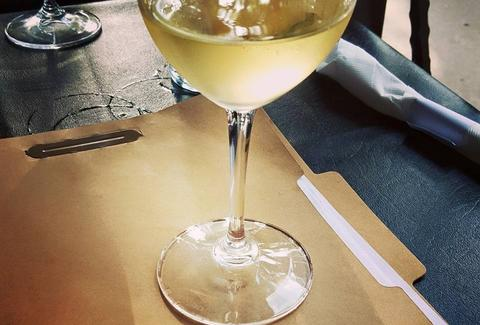 white wine at corner wine bistro indianapolis