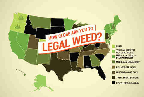 When Will Your State Legalize It? Rolling up Every State's Cannabis Laws.