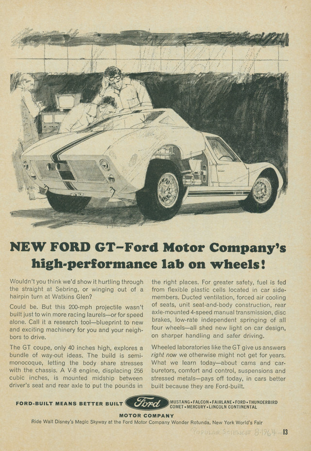 Ford Used It As A Mobile Research Tool And Certainly Enjoyed The Fabulous Publicity That Came With Beating Its Italian Enemy