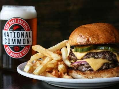 h & f burger atlanta burger and fries with beer