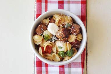 Meatball pasta salad