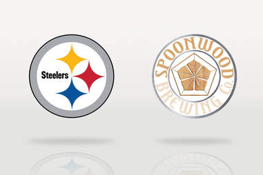 Steelers logo and Spoonwood Brewing