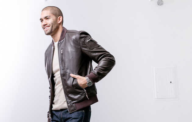 1 Item, 3 Outfits: The Rogue State Leather Baseball Jacket