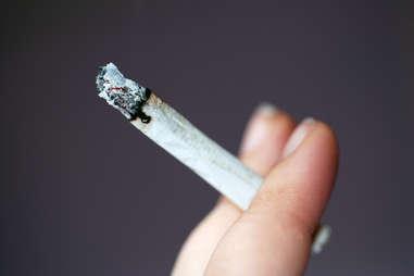 rolled joint, smoking marijuana