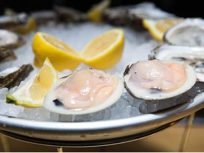 Edwin and Neal's Fish Bar nyc oysters lemon ice