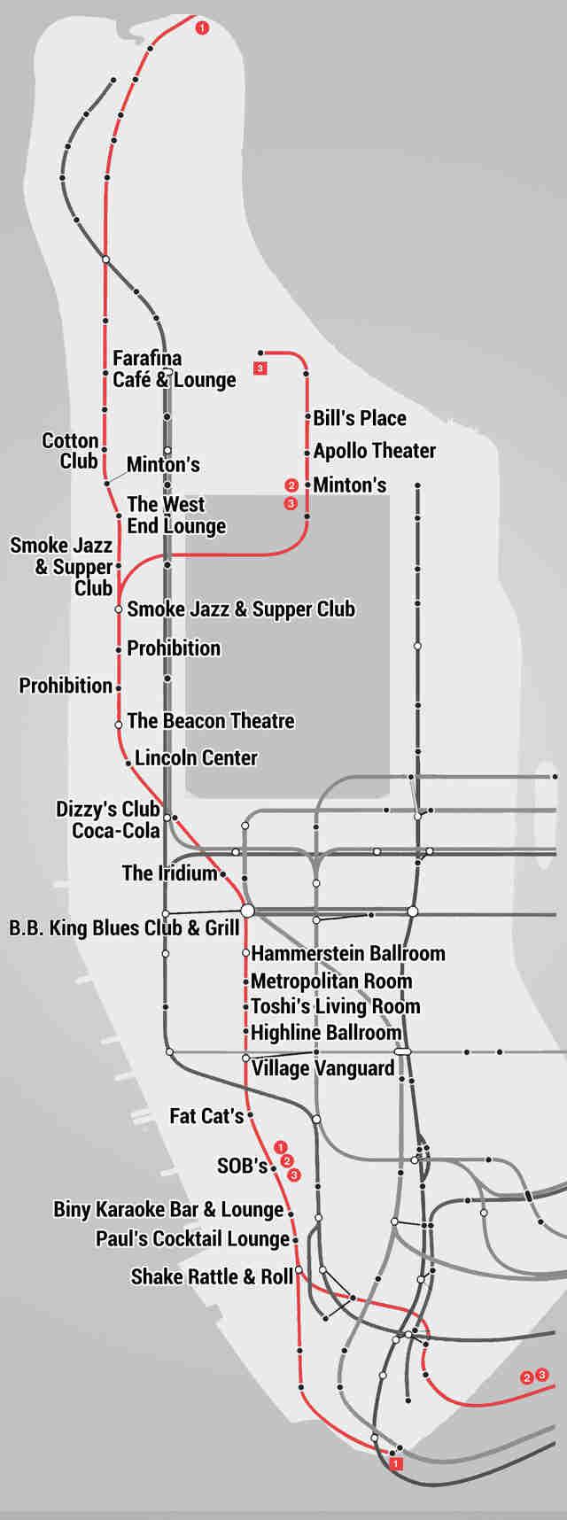 The Manhattan Subway Music Venue Map - Thrillist