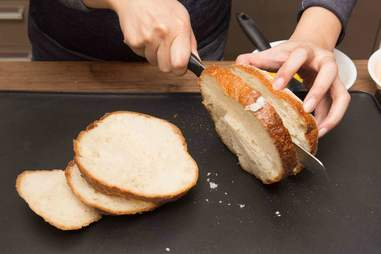 Grilled Cheese Bread Bowl -- Thrillist Recipes
